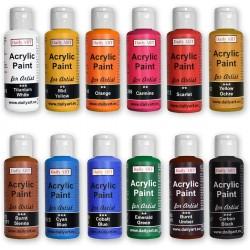 Akrylové umělecké barvy sada 12x50 ml Daily ART