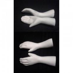 Keramický odlitek ruce větší  5,5x2 cm pár