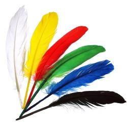 Peříčka na indiánskou čelenku 20 kusů výška 13 cm