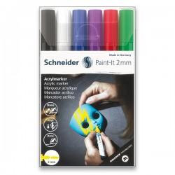 Akrylové popisovače sada základní barvy 6 kusů 2 mm