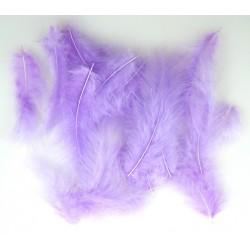 Peří fialové dlouhé 17 cm 40 kusů