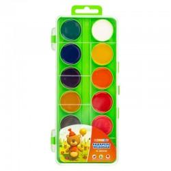Medové vodové barvy dětské 12 odstínů zelený box