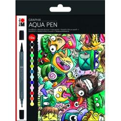 Aqua pen sada Mega Mash 12 kusů Marabu