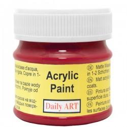 Akrylová barva červená tmavá matná 50 ml Daily ART