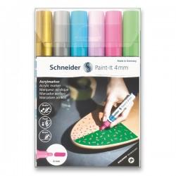 Akrylové popisovače sada 6 kusů 4 mm pastelové odstíny