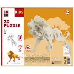 3D Puzzle Lev 13x19,5 cm Marabu