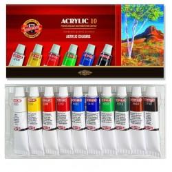 Akrylové barvy sada 10x16 ml KOH-I-NOOR