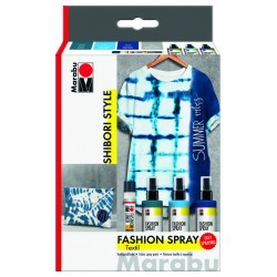 Fashion spreje na textil 3x100ml 1x Fashion Liner Shibori Style Marabu