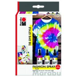 Fashion sprej na textil 3x100ml Tie Dye Style Marabu