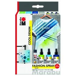 Fashion sprej na textil 3x100ml 1x Fashion Liner Cool Denim Marabu