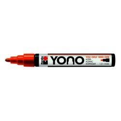 YONO univerzální 1,5 - 3mm akrylový popisovač oranžový Marabu