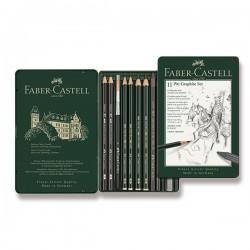 Pitt Graphite set 11 kusů Faber Castell v kovové kazetě