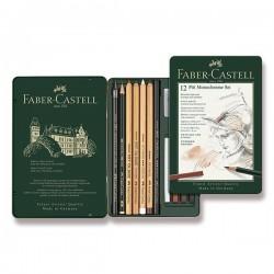 Pitt Monochrome set 12 kusů Faber Castell v kovové kazetě