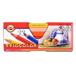 Pastelky trojboké 10,5 mm 12 kusů KOH-I-NOOR