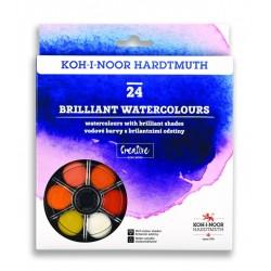 Vodové brilantní barvy sada 24 kusů KOH-I-NOOR