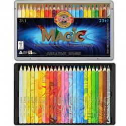 Pastelky Magic multibarevné 23+1 KOH-I-NOOR v kovové kazetě