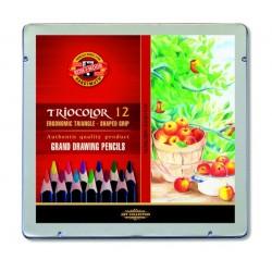 Pastelky trojboké Triocolor sada 12 kusů Koh-i-noor