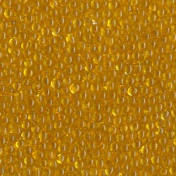 Kuličky skleněné průhledné, žlutá, průměr 1,2mm