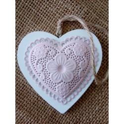 Dřevěné srdce 9,5x10 cm
