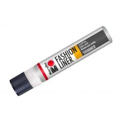 Fashion liner stříbrný třpytivý 25ml Marabu