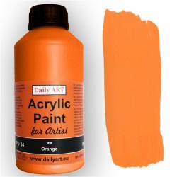 Akrylová umělecká barva Oranžová 500 ml Daily ART