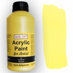 Akrylová umělecká barva Žlutá citronová 500 ml Daily ART