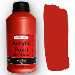 Akrylová umělecká barva Napthol červená 500 ml Daily ART