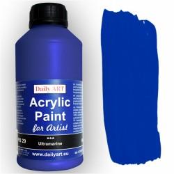 Akrylová umělecká barva Ultramarínová 500 ml Daily ART