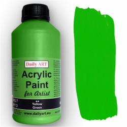 Akrylová umělecká barva Žlutozelená 500 ml Daily ART
