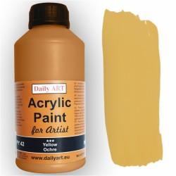 Akrylová umělecká barva Žlutý okr 500 ml Daily ART