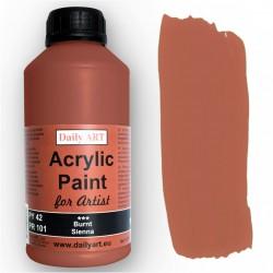 Akrylová umělecká barva Sienna pálená 500 ml Daily ART
