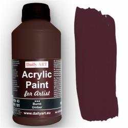 Akrylová umělecká barva Umbra pálená 500 ml Daily ART