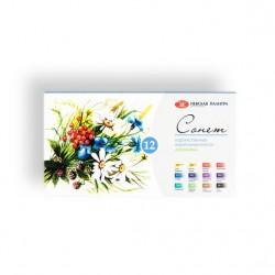 Akvarelové studiové barvy sada 12 kusů Botanica Sonnet Nevskaya Palitra