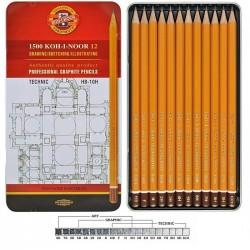 Tužky pro technické kreslení sada 12 kusů KOH-I-NOOR