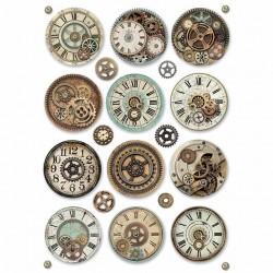 Rýžový papír Fantastické hodinové strojky Stamperia A4