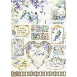 Rýžový papír Nádherní ptáčci a květiny Stamperia A4