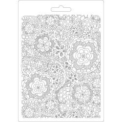 Forma plastová nízká Květinová textura A5 Stamperia