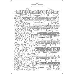 Forma plastová nízká Noty a ornament A5 Stamperia