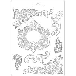 Forma plastová nízká Ornamenty A5 Stamperia