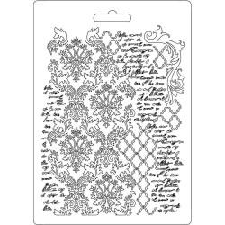 Forma plastová nízká Textura a ornament A5 Stamperia