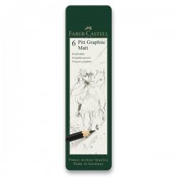 Tužky grafitové umělecké matné sada 6 kusů Faber Castell