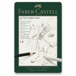 Tužky grafitové umělecké matné sada 11 kusů Faber Castell