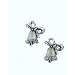 Zvoneček stříbrný 3,3 x 2,7 x 0,6 cm polyresin