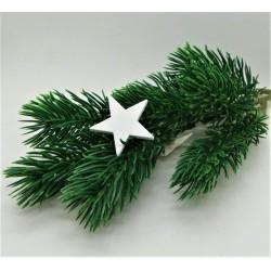 Výřez z překližky bílá hvězda 3 cm