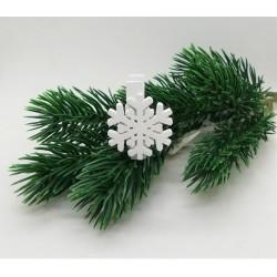 Kolíček se sněhovou vločkou 3,5 x 2,7 cm