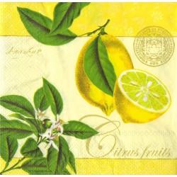 Ubrousek žlutý s citrony 33x33 cm