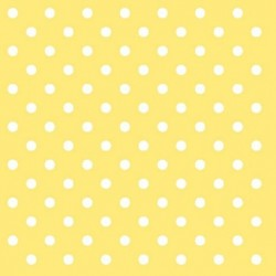 Ubrousek žluté puntíky 33x33 cm