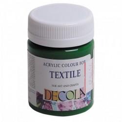 Barva na textil, Zelená střední, Decola, 50 ml