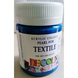 Barva na textil, Azurová perleťová, Decola, 50 ml