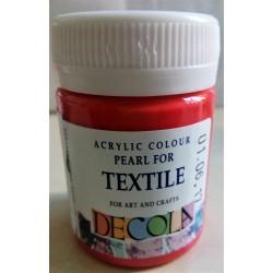 Barva na textil, Červená perleťová, Decola, 50 ml